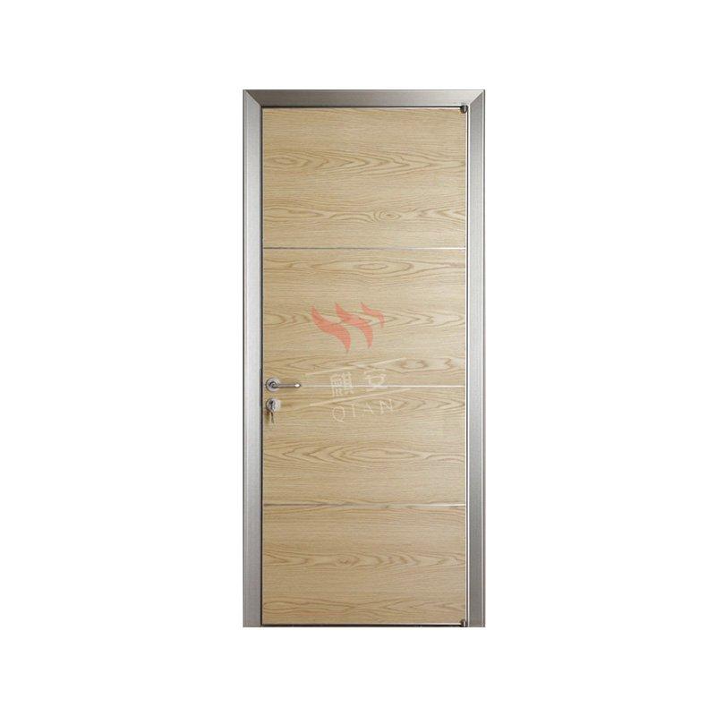 Professional Plywood Door Commercial Ecotype Door With Aluminum Casing