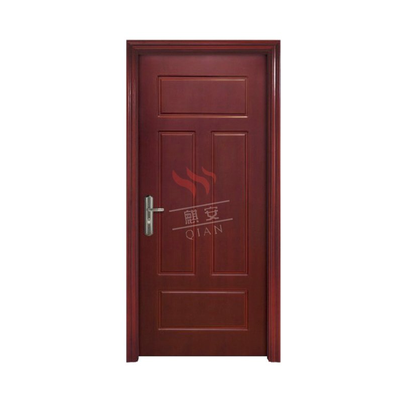 Simple Design Fire Proof Wood Door With Glass Vision Exterior Wood